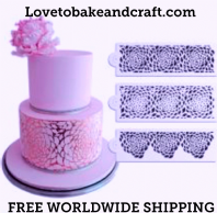 Cake stencil, 3 piece set. Flower cake stencil, Wedding cake stencil, Peony stencil, Free worldwide shipping (1) (2) (5) (11)